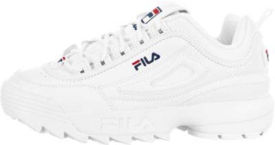 Fila Disruptor II (Kids), White / Peacoat-red, 5 Big Kid