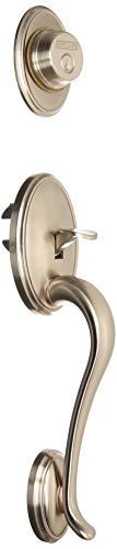 Schlage F92-WKF Wakefield Exterior Dummy Handle (Interior Side Sold Separately), Satin Nickel