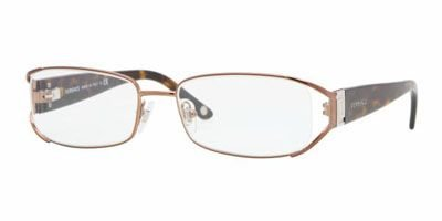 Versace Ve1179 Eyeglasses 1045 Brown Demo Lens 50 17 - Versace Glasses Girl
