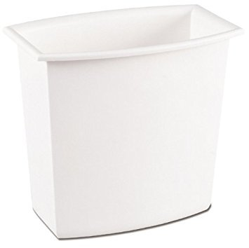 (Sterilite Corp. 10220012 Rectangular Vanity Wastebasket 2 Gallons (Assorted Colors))