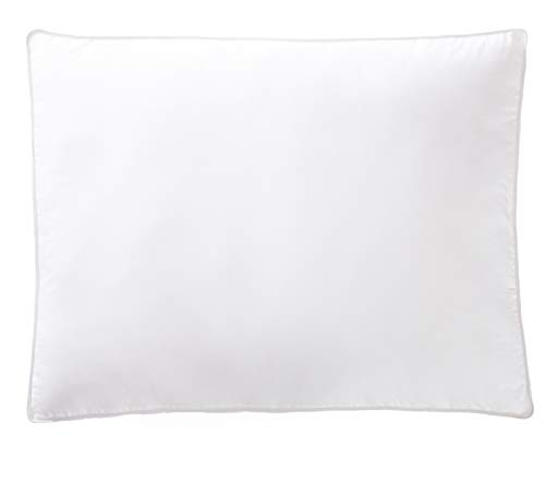 AmazonBasics Down-Alternative Gusseted Pillows with Cotton Shell - Pack of 2, King