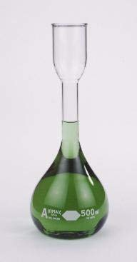 28100-500 - 500 mL - KIMAX Kohlrausch Volumetric Flasks, Class A, Kimble Chase - Case of 6