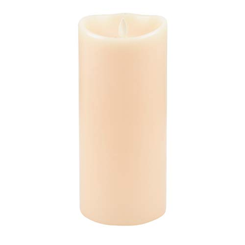 (Luminara LED Flameless Candle, Flameless Real Wax Moving Wick LED Candle for Home, Party, Halloween, Wedding Decor with Timer Control Vanilla Scent 4