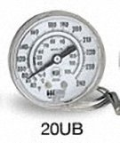 Weiss Instruments, Inc. 20UB060 NSF REMOTE READING DIAL THERMOMETER