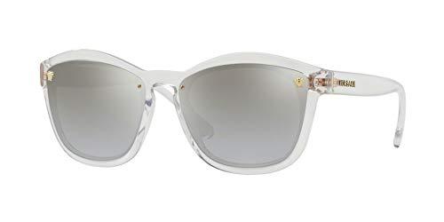 Versace Womens Sunglasses Clear/Grey Nylon - Non-Polarized - ()