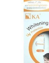 KA Whitening Sunscreen Uv Protect Cream SPF 50 by KA