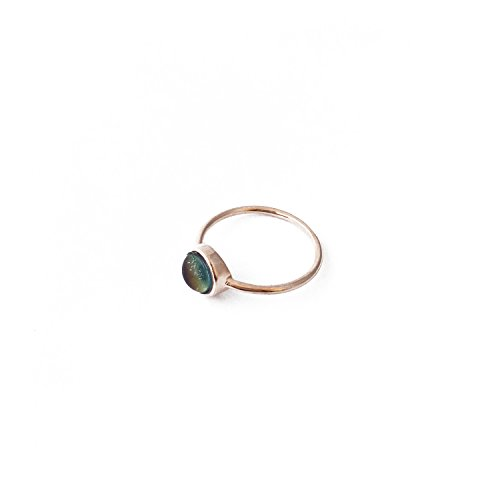 - HONEYCAT Mood Ring in Rose Gold | Minimalist, Delicate Jewelry (Rose Gold 6)
