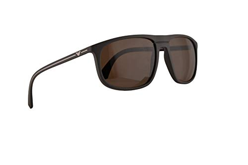 Emporio Armani EA4118 Sunglasses Mud Rubber w/Brown Lens 59mm 569373 EA ()