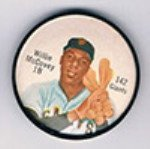 1962 salada tea coins (Baseball) Card# 142 Willie McCovey (180 back) of the San Francisco Giants VGX Condition