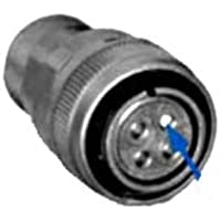 Circular Connector, DL Series, Straight Plug, 7 Contacts, Solder Socket, Threaded, 24-10