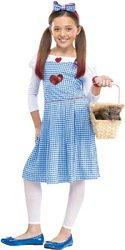 [Big Girls' Sequin Heart Dorothy Costume Medium (8-10)] (Baby Dorothy Costumes)