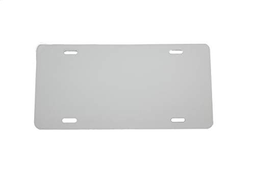 Partsapiens Corp Anodized Aluminum License Plate Blank Heavy Gauge .040 (1mm) Thickness - Made in USA