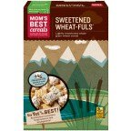 Mom's Lightly Sweetened Whole Grain Wheat Cereal Naturals Sweetened Wheat-Fuls 24 OZ (Pack of 24)