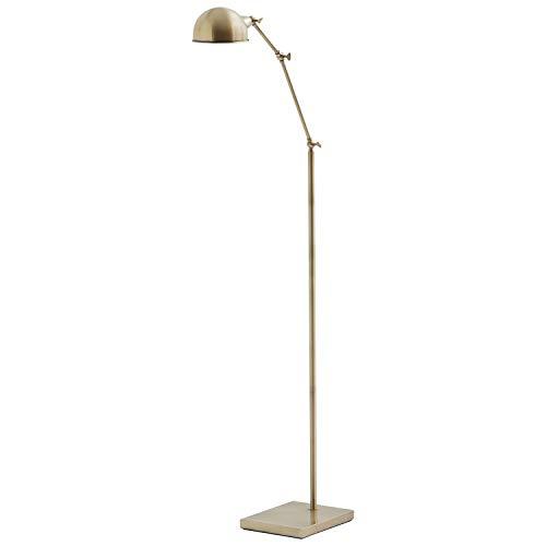 Stone Beam Vintage Adjustable 3-Joint Floor Lamp, 56 H, Antique Brass
