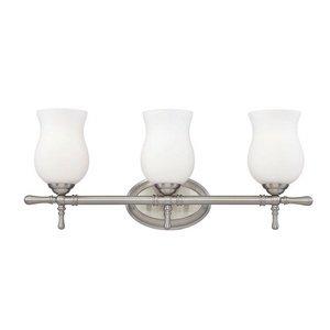 Eurofase 23037-021 Regency 3-Light Bath Bar Bathroom Light, Satin (Regency 3 Light Vanity)