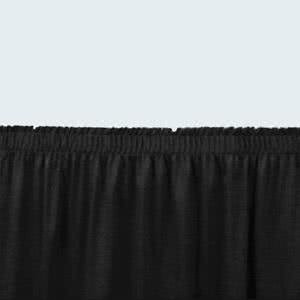 - Tabletop king Seating SS24 Black Shirred Stage Skirt for 24