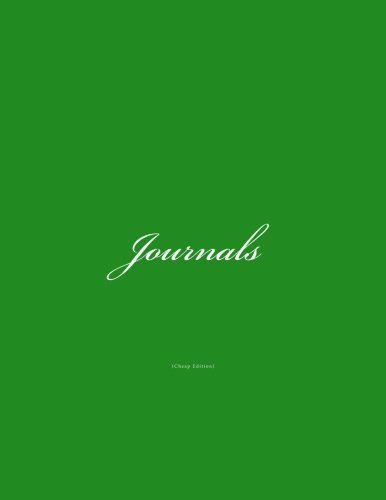 Download Journals Cheap: Classic Cheap Journal (Lined Pages) with Green Cover Option - ON SALE NOW - JUST $4.99 (Cheap Journals) (Volume 7) pdf
