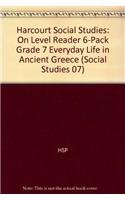 Download Harcourt Social Studies: Reader 6-pack On-Level Grade 7 Everyday Life in Ancient Greece pdf