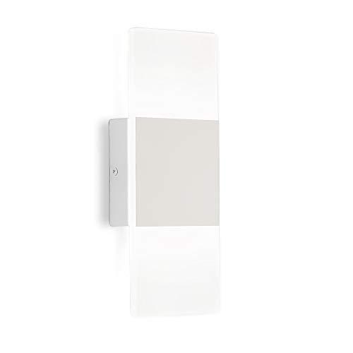 Bedroom LED Wall Sconce fixtures Modern Bathroom White 12W Vanity Light Indoor Wall lamp Lighting ()