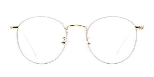 TIJN Women Full Rim Round Metal Circle Eyeglasses Thin - Online Prescription Uk