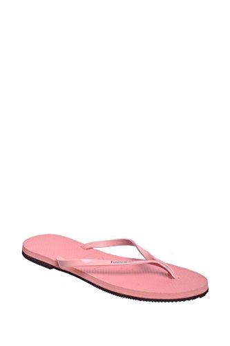 Havaianas Womens You Metallic Flip Flop Sandal Light Rose Size 37-38 BR/7-8 B(M) - Pink Havaianas
