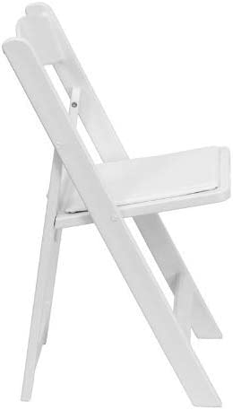 8-Pack Heavy Duty 300-Pound Capacity Weddings White Resin Stackable Folding Chairs and Events for Banquets