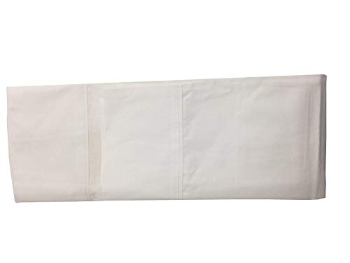 Koni White Pillow Case, Self-Piping, 50% Cotton/50% Polyester, 250 Thread Count, White, King 36 Inches x 20 Inches (2 Pack)