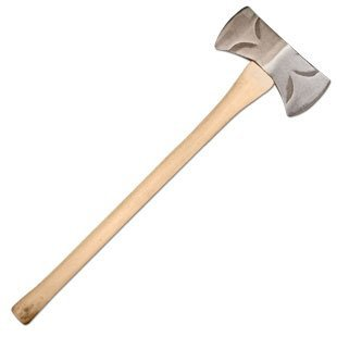"""Council Tool Drake Off Road Tools 3.5 Lbs. Double Bit Classic Michigan Axe With 36"""" Straight Hickory Handle"""