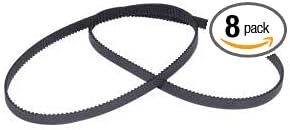 2pcs GT2 Timing Belt Annular Loop Gear Rubber 6mm Width 2mm Pitch 200-2GT