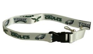 Pro Specialties Group NFL Philadelphia Eagles Retro Lanyard, White/Green, One Size