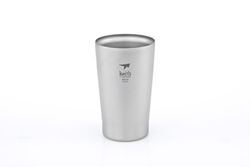 Keith Titanium Ti9221 Double-Wall Beer Cup – 10.8 fl oz