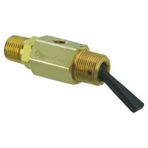 "Clippard TV-2MFP, 2-Way Toggle Valve, N-C, Momentary Open Toggle, 1/8"" NPT Male from Clippard"