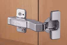 CLIP Top CLIP Top Full Overlay Press-In Diagonal Cabinet Door Hinge with 110-Degree Opening Angle and Self Close Function (110 Degree Full Overlay)