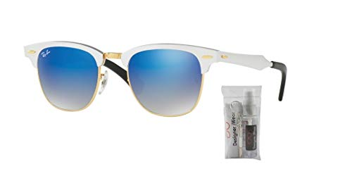 Rb3507 Brushed Silver Clubmaster Ray Aluminum Sunglasses ban blue Flash Gradient 4Oqnwv