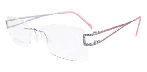 Eyekepper Rimless Titanium Optical Eyeglasses Frame Diamond (Womens Optical Eyeglass Frame)