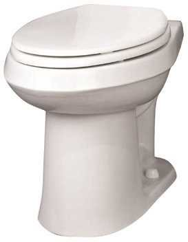 Gerber Toilet Elongated Bowl (Gerber Plumbing VP-21-528 Gerber Viper Watersense High-Efficiency Elongated Siphon Jet Toilet Bowl, Ada-Compliant, 1.6 Gpf/1.28 Gpf, White - 2463449)