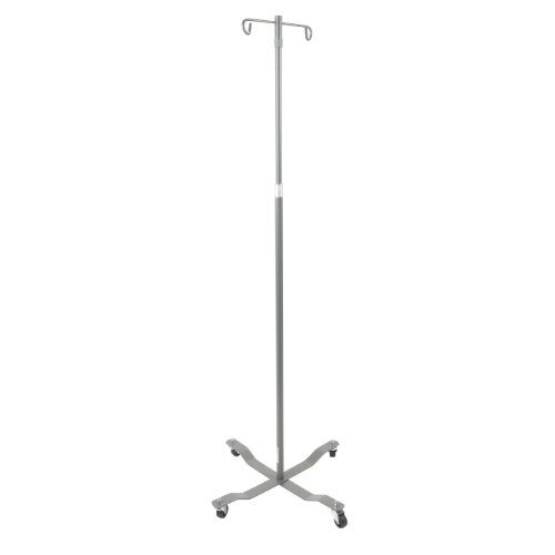 Drive Medical Economy Removable Top I. V. Pole, Silver - Pole Portable Iv