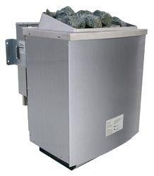 Karibu Bio-Kombiofen 9,0 kW externe Steuerung Premium und Steine Leistung: 9,0 kW (3 x 3,0 kW) Saunasteine: 18 kg Steuerung: extern Temperaturvorwahl: 40 - 125 °C max. Heizzeit: 6 Stunden elektrischer Anschluss: 400 V