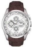 Tissot Couturier Automatic Chronograph Brown Leather Silver Dial Men's Watch #T035.627.16.031.00