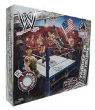 Mattel WWE Wrestling Fan Central Exclusive Tribute To The Troops Ring Includes American Flag, Military Vest Helmet! by WWE