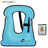 SOF00001-L-BU Snnorkel Vest Adult Inflatable Swim Vest Life Jacket For Snorkeling,Suitable For 80-220lbs