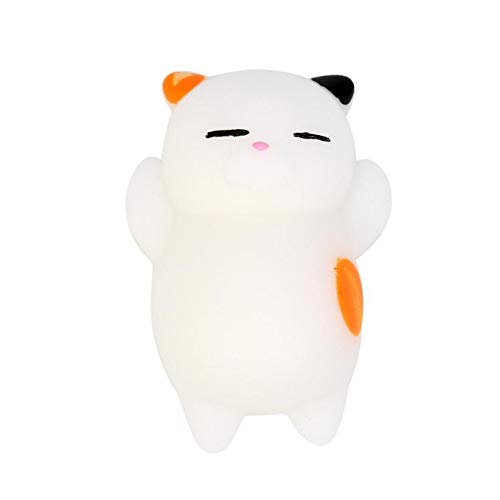 FORESTIME Mochi Cat Healing Dumpling Toy for 3 Years - Squishy Toy for Stress Relief Kawaii Slow Rising Super Soft with Sweet Scented Cream Cute Toys (D, 4 cm)