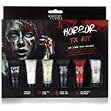 Splashes & Spills Halloween Horror FX Makeup Kit - 9 Piece Set Guidebook ()