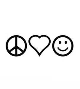 Peace Sign Vinyl Stickers - Chase Grace Studio Peace Sign Love Heart Be Happy Hippie Vinyl Decal Sticker|BLACK|Cars Trucks Vans SUV Laptops Wall Art|7.5