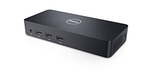 Dell USB 3.0 Ultra HD/4K Triple Display Docking Station (D3100) (Docking Station For Dell Xps 13 Laptop)
