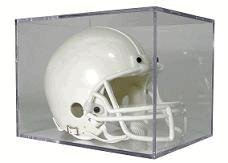 (BallQube Mini Football Helmet Display Case -Holder)
