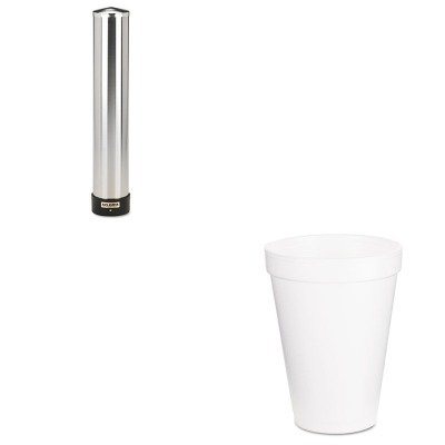 KITDRC12J16SJMC3400P - Value Kit - Dart Drink Foam Cups (DRC12J16) and San Jamar Large Water Cup Dispenser w/Removable Cap (SJMC3400P) by DART