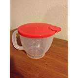 batter pitcher - Tupperware Mix & Store Batter Bowl 4 Cup (Small) Measuring Pitcher Red Seal