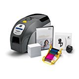 ID Card Printer - Zebra Z32-0000D200US00 QuikCard ID Solution ZXP Series 3 ID Card Printer, Single- and Dual-Sided Cards, Monochrome or Color, 300 dpi, 9.3