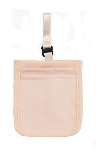 MALFURION RFID Secret Bra Stash Pocket Hidden Undercover Travel Pouch for Travel Fashion Girl(B PINK)